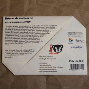 Brèves de recherche Pascal Nicolas-Le Strat
