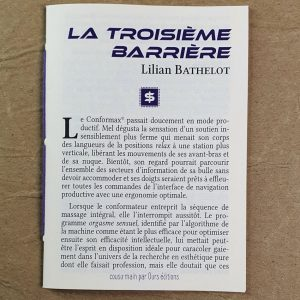 La Troisième barrière de Lilian Bathelot collection cousu·main